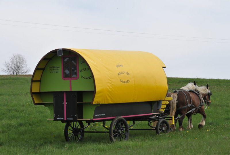 Viertägiger Urlaub im Pferdewagen in Drôme à Le Poët-Célard - 4