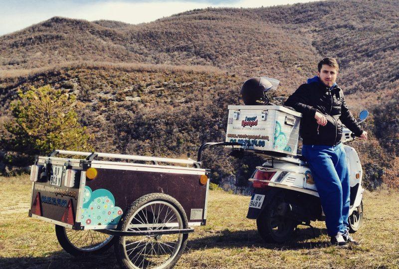 Vagabondage en scooter : Aventure Robinsone Insolite en Drôme provençale à Marsanne - 11