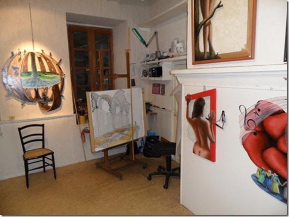 Atelier-Exposition de peinture Daniel Joux à Dieulefit - 3