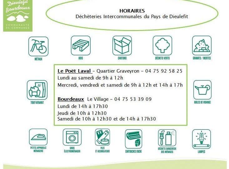 Déchèterie du Poët-Laval à Le Poët-Laval - 0