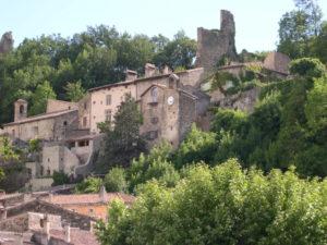 Viale du village de Bourdeaux - Drôme