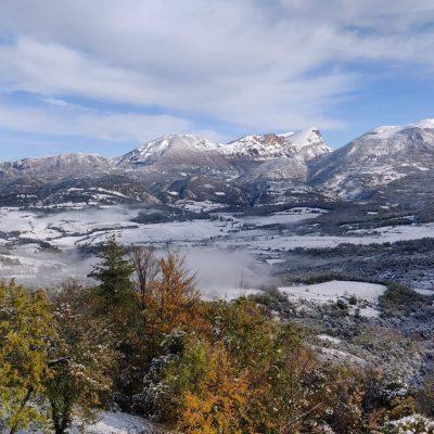 Hiver - montagne - pré- Drome photographie