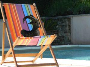 Chaise longue - Piscine - Vacances