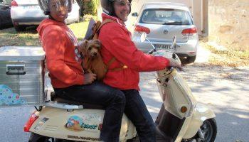 Parcours d'art  en scooter  découverte tourisme drome