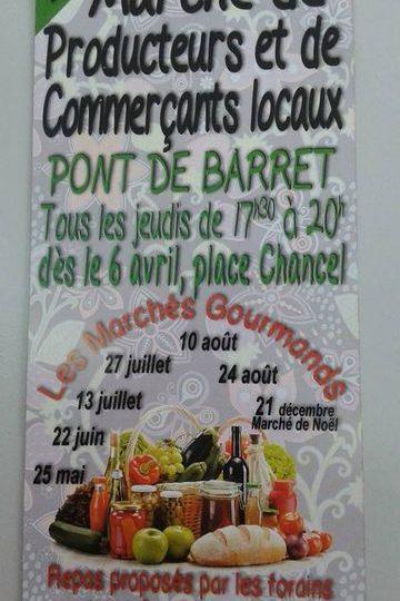 Marché de producteurs et de commerçants locaux du Jeudi à Pont-de-Barret - 0