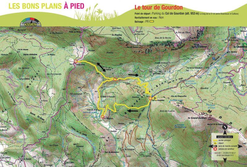 Bezaudun sur Bîne : Le Tour de Gourdon à Bézaudun-sur-Bîne - 1