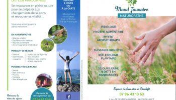 Maud Jaunatre – Naturopathe – plaquette pages 1 – 4
