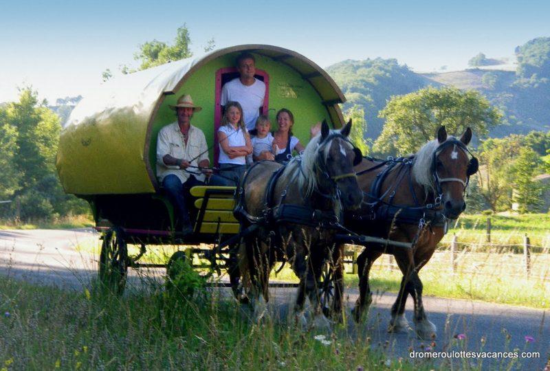 «Grain de Bohème» : 2 jours en roulotte tirée par des chevaux à Le Poët-Célard - 2