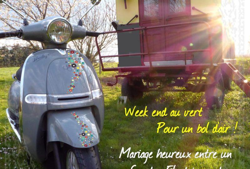 Week end Nature et Insolite 1j/1nuit : Nuit bohème et Scooter Nomade à Marsanne - 1
