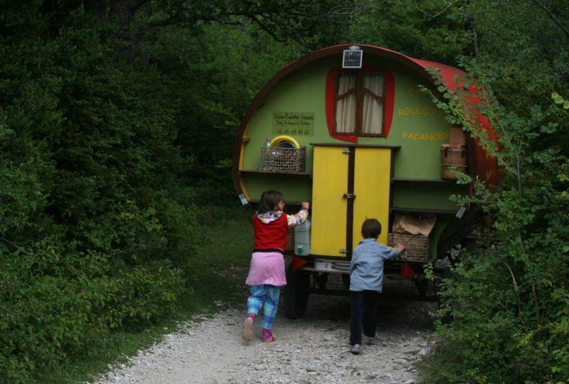 Vacances en roulotte itinérante avec chevaux et meneur à Le Poët-Célard - 9